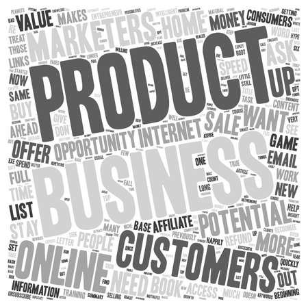 potential: How To Get Potential Customers To Do Business With You text background wordcloud concept Illustration