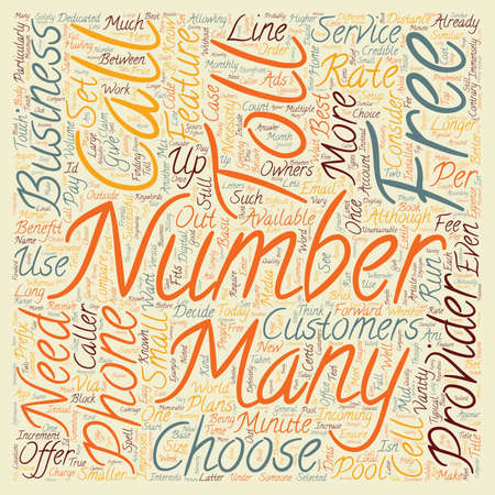 How To Get An Number For Your Business text background wordcloud concept