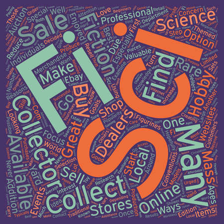 sci: How to Find Sci Fi Collectibles Available For Sale 1 text background wordcloud concept
