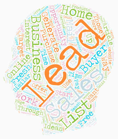 generate: How to Generate Buyer Sales Leads for Your Online Business text background wordcloud concept Illustration