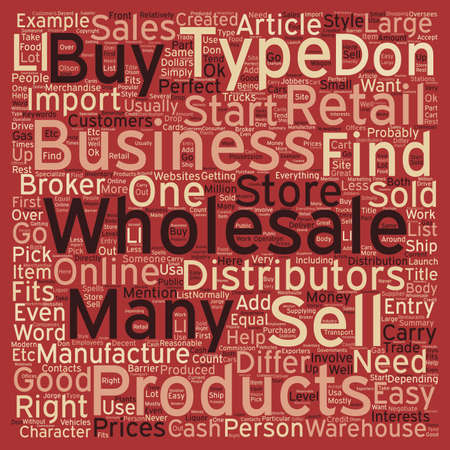wholesale: How To Find The Perfect Wholesale Business For You text background wordcloud concept