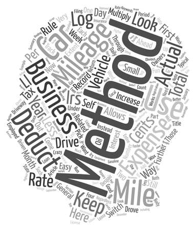 deductions: How To Drive The Irs Crazy text background wordcloud concept