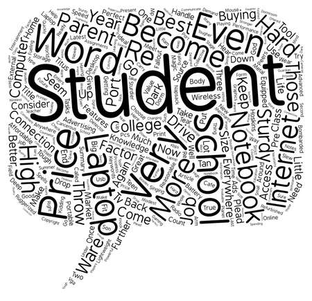 consider: How To Choose the Best Student Laptop text background wordcloud concept Illustration