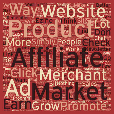 How to Constantly Grow Your Affiliate Check text background wordcloud concept