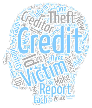 How To Clean Up Your Credit Ruined By Scammers text background wordcloud concept