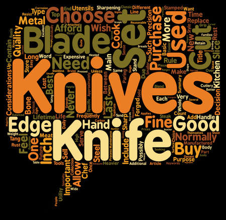 How To Choose The Best Knife Set text background wordcloud concept Illustration