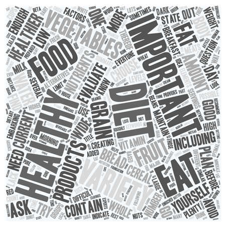 healthier: How To Find Out If Your Diet Is Healthy Enough text background wordcloud concept