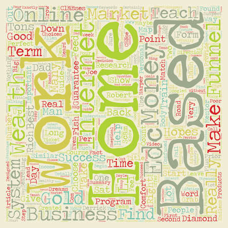 based: How To Choose The Right Home Based Business And Make Money Online text background wordcloud concept Illustration