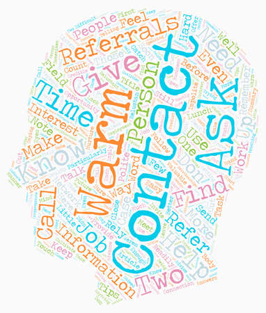 referrals: How To Get Referrals From Warm Contacts text background wordcloud concept