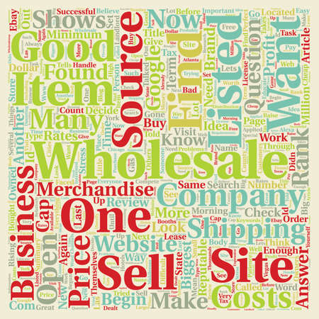 wholesale: How to Find Wholesale Sources text background wordcloud concept