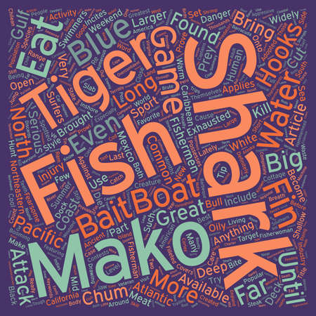weekend activities: How To Catch Sharks text background wordcloud concept Illustration