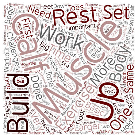 How To Get Big Calves text background wordcloud concept