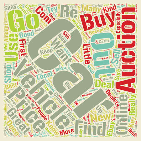 bargain: How To Find Used Cars At The Bargain Prices text background wordcloud concept Illustration