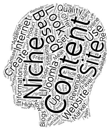 based: How To Create Content Based Niche Sites That Are Profit bombs text background wordcloud concept