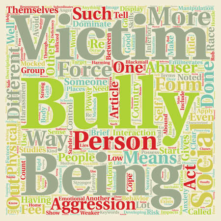 How To Cope With Bullies text background wordcloud concept Stock Vector - 68122681