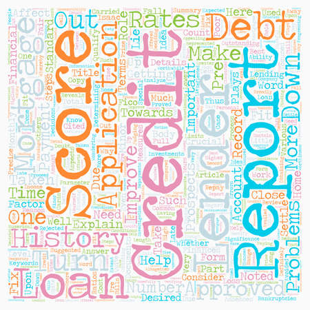 qualify: How to fix your credit score and qualify for a home loan text background wordcloud concept