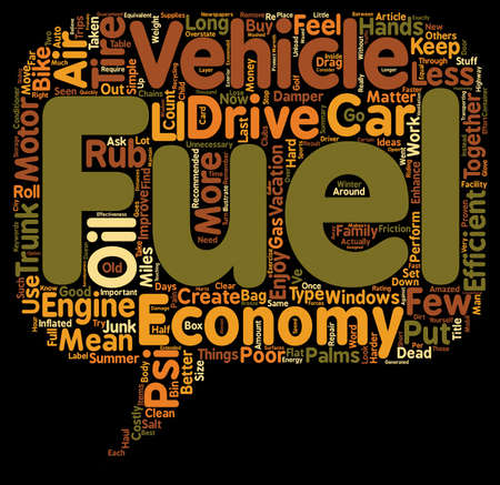 fuel economy: How to Get Better Fuel Economy text background wordcloud concept
