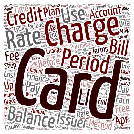ve: How To Choose and Use Credit Cards text background wordcloud concept