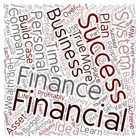 associates: How To Evolve A Financial Success System text background wordcloud concept