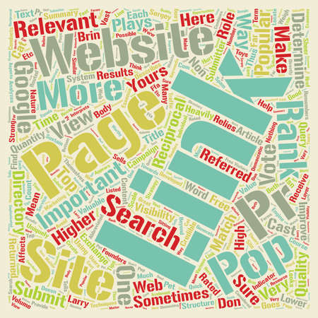 page rank: How Link Pop Affects Your Website s Page Rank text background wordcloud concept Illustration