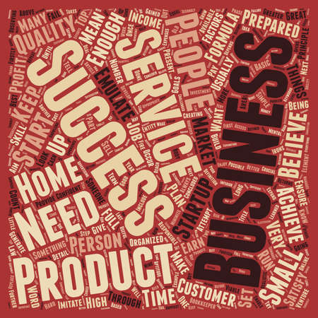 concluded: How To Be A Business Success text background wordcloud concept Illustration