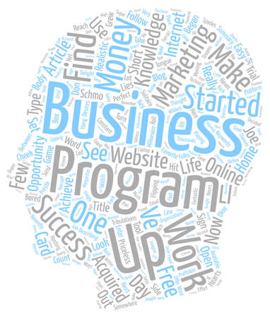 How My Business Began text background wordcloud concept