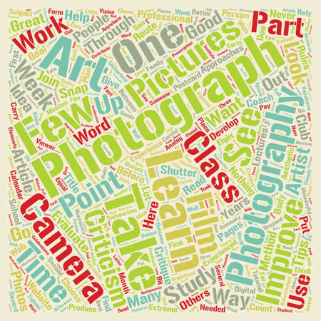 How to be a Great Photographer text background wordcloud concept