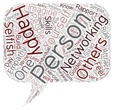 テキスト背景の wordcloud 概念は個人の幸福を誘致する方法  イラスト・ベクター素材