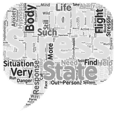 hypnotherapy: How Hypnotherapy Helps With Stress And Anxiety text background wordcloud concept