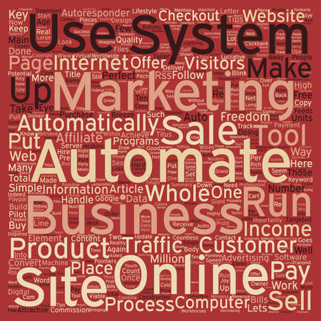 automate: How To Automate Your Online Business text background wordcloud concept