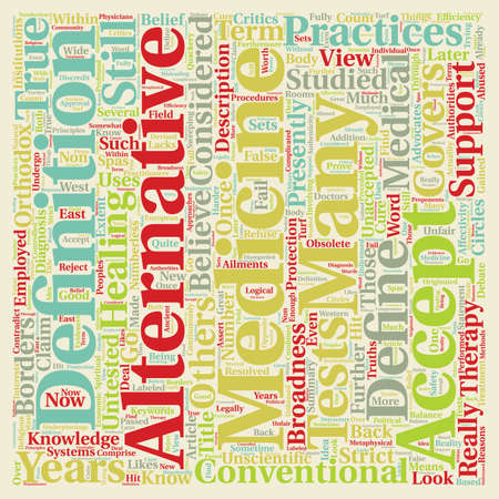 How Should Alternative Medicine Be Defined text background wordcloud concept