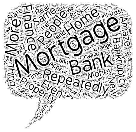 How Repeatedly To Finance Mortgage After Bankruptcy text background wordcloud concept