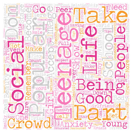 far: How far would you go to be part of the in crowd text background wordcloud concept Illustration