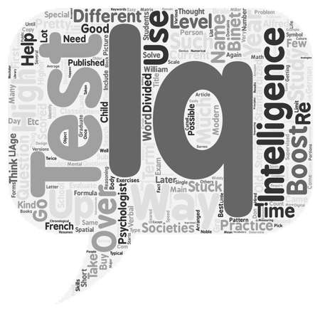 boost: How To Boost Your IQ text background wordcloud concept Illustration