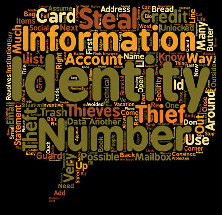 stealing data: How Identity Thieves Steal Your Identity text background wordcloud concept