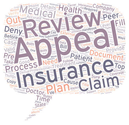How to Appeal When Your Medical Insurance Declines Your Claim text background wordcloud concept
