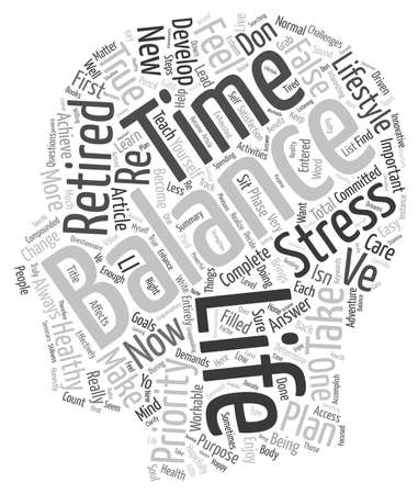 entered: How To Achieve A Balanced And Healthy Lifestyle In Retirement text background wordcloud concept