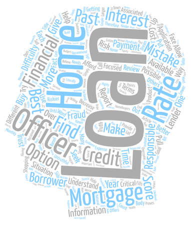 make summary: Home Mortgage Loan Mistakes Most Homebuyers Make text background wordcloud concept Illustration