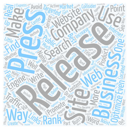 How Can Press Release Increase Web Traffic text background wordcloud concept Illustration