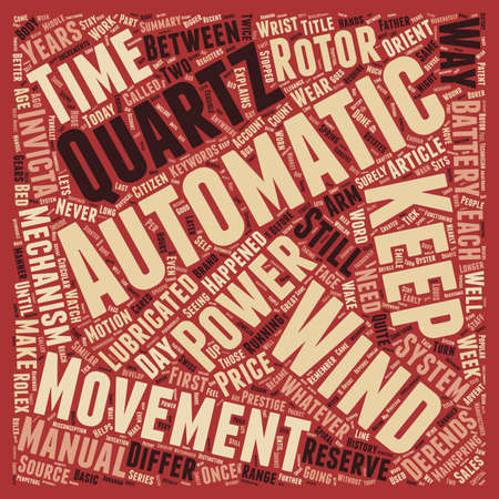 How Automatic Watches Work text background wordcloud concept