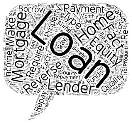 older: How a Reverse Mortgage Can Benefit Homeowners or Older text background wordcloud concept Illustration