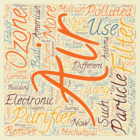 How Bad Is The Air In Your House text background wordcloud concept Vectores