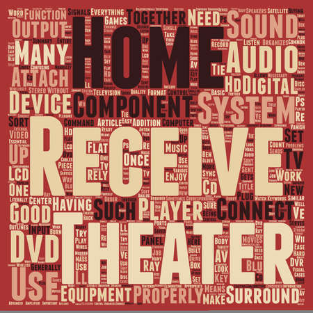 home theater: Home Theater Receiver What It Can Do For Your Home Theater text background wordcloud concept