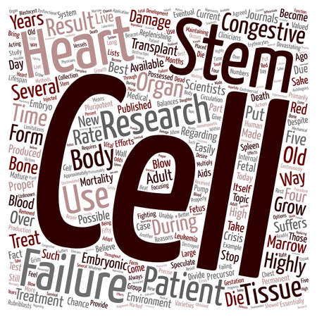 devastating: How Can Stem Cells Be Used to Treat Congestive Heart Failure text background wordcloud concept