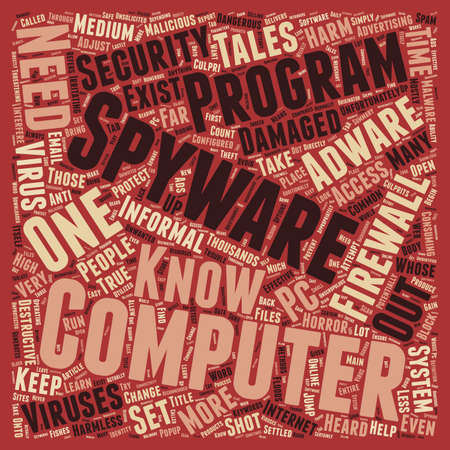 harm: How Adware And Spyware Can Harm Your Computer text background wordcloud concept