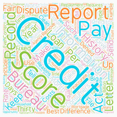 negativity: How Did Your Credit Score Today text background wordcloud concept