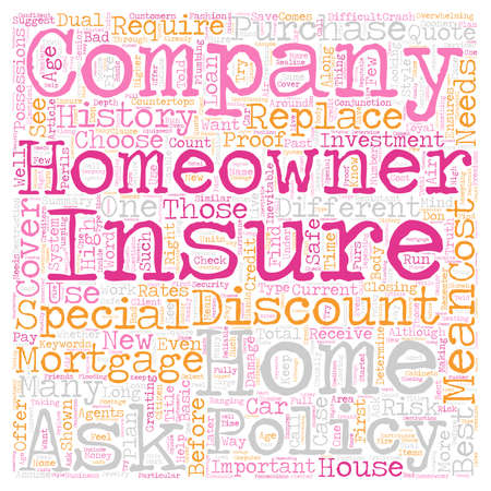 homeowners: Homeowners Insurance Company How To Choose One text background wordcloud concept