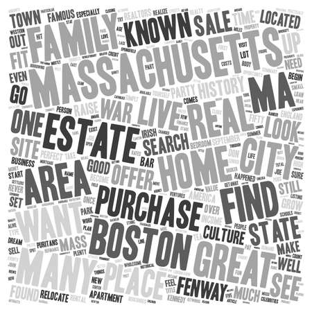 homes: Homes for Sale in Massachusetts text background wordcloud concept