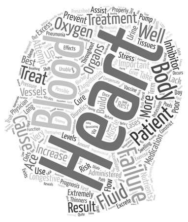 devastating: How do Physicians Treat Congestive Heart Failure text background wordcloud concept Illustration