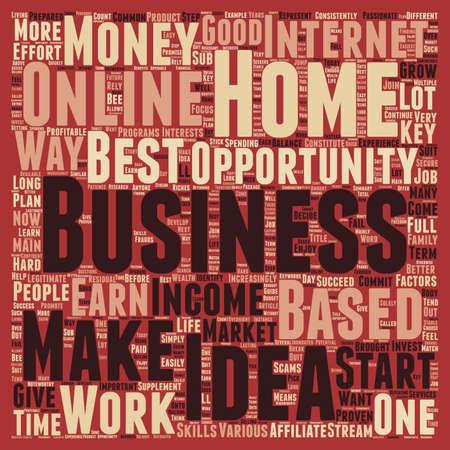 factors: Home Based Business Idea 7 Key Factors That Constitute The Best Home Business text background wordcloud concept